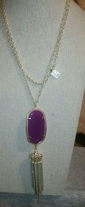 Authentic Kendra Scott 'Rayne' Pink/Maroon Necklac